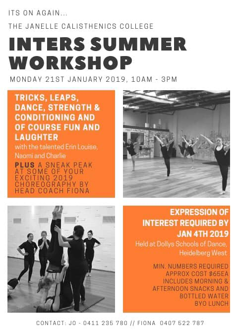 2019 Inters Summer Workshop