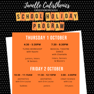 September School Holiday Program